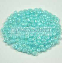 Superduo gyöngy 2.5x5mm - opal light blue luster