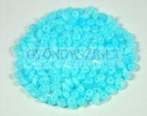 Superduo gyöngy 2.5x5mm - silk light blue opal matt