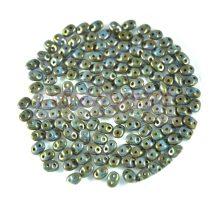 Superduo gyöngy 2.5x5mm - telt türkiz kék viola szenegál