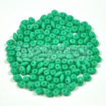 Superduo cseh préselt kétlyukú gyöngy - 2.5x5mm - opaque turquoise matte