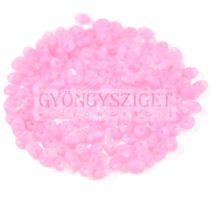 Superduo cseh préselt kétlyukú gyöngy - 2.5x5mm - matte opal pink
