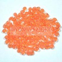 Superduo cseh préselt kétlyukú gyöngy - 2.5x5mm - opal peach