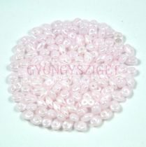 Superduo gyöngy 2.5x5mm - opal pink white luster