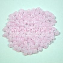 Superduo gyöngy 2.5x5mm - matt opal pink
