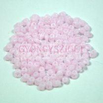 Superduo cseh préselt kétlyukú gyöngy - 2.5x5mm - matt opal pink