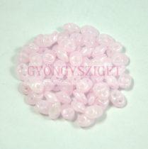 Superduo gyöngy 2.5x5mm - opal pink