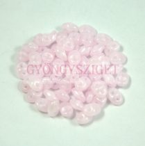 Superduo cseh préselt kétlyukú gyöngy - 2.5x5mm - opal pink
