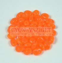 Superduo gyöngy 2.5x5mm - opal orange