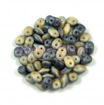 Superduo Duet Bead -  Navy/Ivory Luster - 2.5x5mm