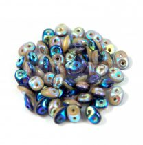 Superduo Duet Bead -  Navy/Ivory AB - 2.5x5mm