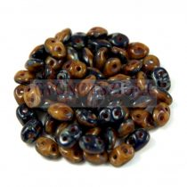 Superduo Duet Bead -  Navy/Ivory Picasso - 2.5x5mm