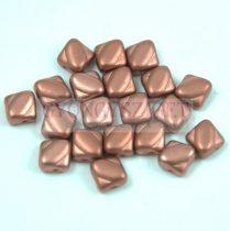 Silky gyöngy - Matt Copper - 6x6mm