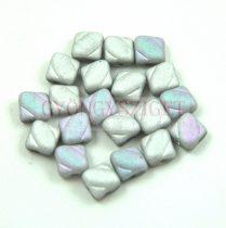 Silky gyöngy - Crystal Matt Glittery Silver - 6x6mm