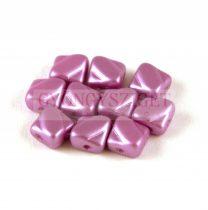 Silky gyöngy - pastel lila - 6x6mm