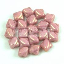 Silky gyöngy - White Pink Luster - 5x5mm
