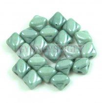 Silky gyöngy - White Green Luster - 5x5mm