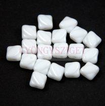 Silky gyöngy - Opaque White - 6x6mm