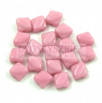 Silky gyöngy - Opaque Pink - 6x6mm