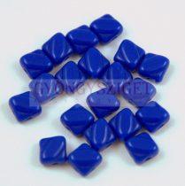 Silky gyöngy - Opaque Sapphire - 6x6mm