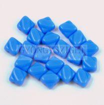 Silky gyöngy - Opaque Light Sapphire - 6x6mm