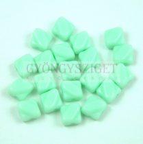 Silky gyöngy - Opaque Mint - 6x6mm