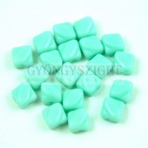 Silky gyöngy - Opaque Light Turquoise Green - 6x6mm