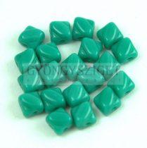 Silky gyöngy - Turquoise Green - 5x5mm