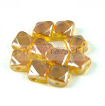 Silky gyöngy - Amber Rainbow Luster - 6x6mm