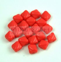 Silky gyöngy - Opaque Red - 5x5mm