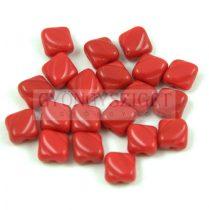 Silky gyöngy - Opaque Dark Red - 6x6mm