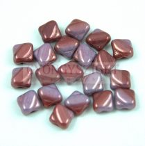 Silky gyöngy - Opaque Purple Vega Red Blend - 6x6mm