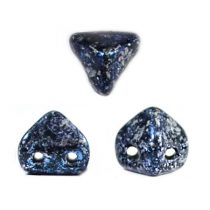Super Kheops® par Puca® 2lyukú gyöngy - 6mm - tweedy blue