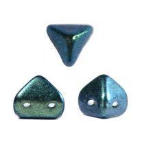 Super Kheops® par Puca® 2lyukú gyöngy - 6mm - polichrome aqua teal