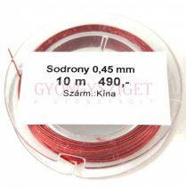 Sodrony - vörös - 0.45mm - 10m