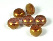 Cseh csiszolt fánk gyöngy 14x10mm - sand opal golden bronz