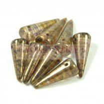 Cseh préselt tüske gyöngy - kristály bronz lüszter -7x17mm