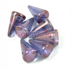 Préselt tüske gyöngy - kristály lila lüszter - 12x18mm