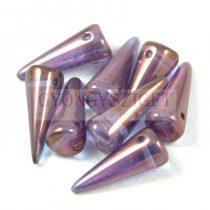 Cseh préselt tüske gyöngy - lila vega lüszter -7x17mm