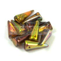 Cseh préselt tüske gyöngy - kristály oliva barna magic -7x17mm