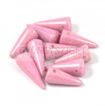 Cseh préselt tüske gyöngy -fehér rózsaszín lüszter-7x17mm