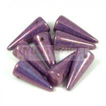 Cseh préselt tüske gyöngy -fehér lila vega lüszter-7x17mm