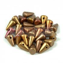 Préselt tüske gyöngy - metál rózsa-arany - 5x8mm