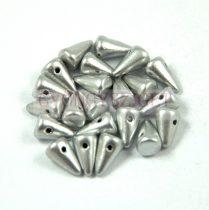 Préselt tüske gyöngy - ezüst - 5x8mm