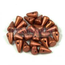 Préselt tüske gyöngy - metál rozsda - 5x8mm