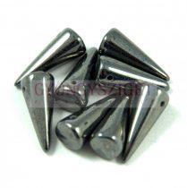 Cseh préselt tüske gyöngy - hematit -7x17mm