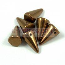 Préselt tüske gyöngy - bronz - 12x18mm