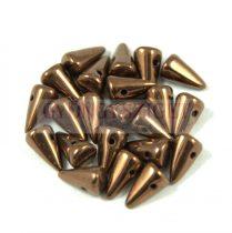 Préselt tüske gyöngy - Bronz - 5x8mm