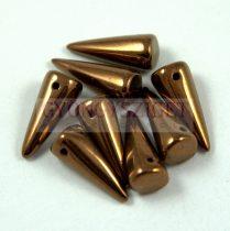 Cseh préselt tüske gyöngy - bronz -7x17mm