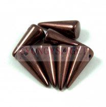 Cseh préselt tüske gyöngy - padlizsán bronz -7x17mm