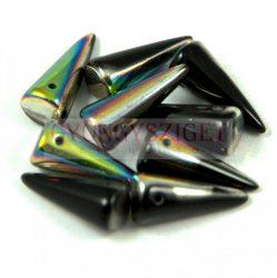 Cseh préselt tüske gyöngy - fekete vitral -7x17mm